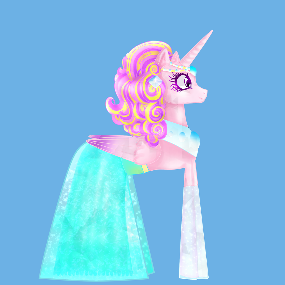 Crystal Dress for the princess of love