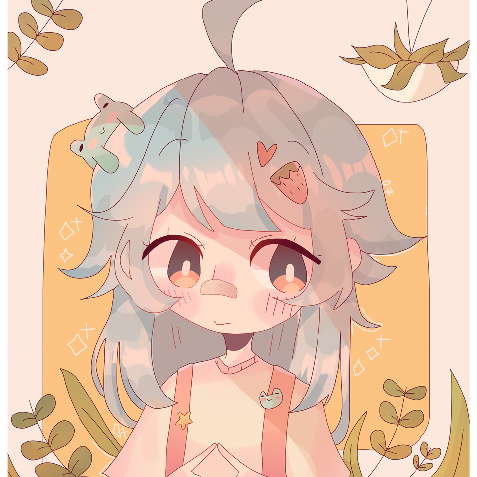 🐸 what I don't know Illust of pErSon pastel girl >:0 plants medibangpaint >:D :0 :D aesthetic