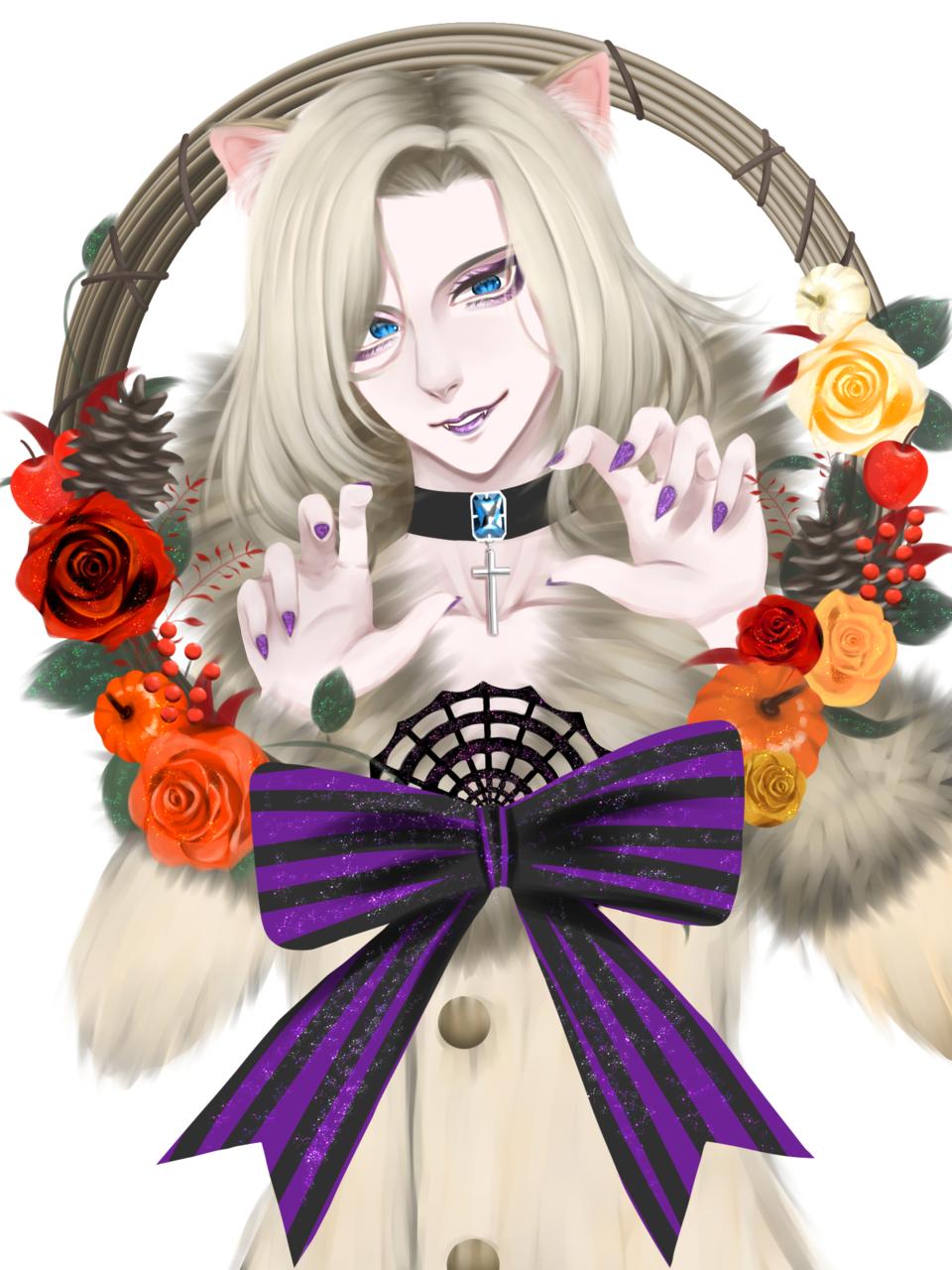 ハロウィーン Illust of 塩宮分 September2020_Contest:Furry boy ファーリー 獣人 Halloween cat