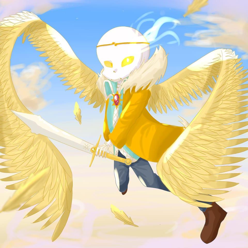 Dreamswap Illust of Ledi_=) undertale AU Dreamsans Skeleton dreamswap