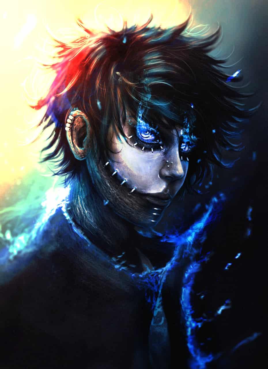 Dabi Illust of llorddd villain fire Dabi MyHeroAcademia