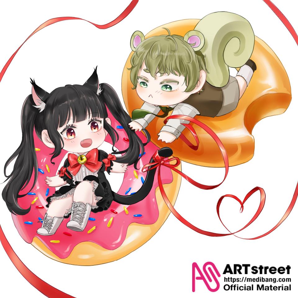 던킨 Illust of 유월 tracedrawing3rd Trace&Draw【Official】 donut cat medibangpaint