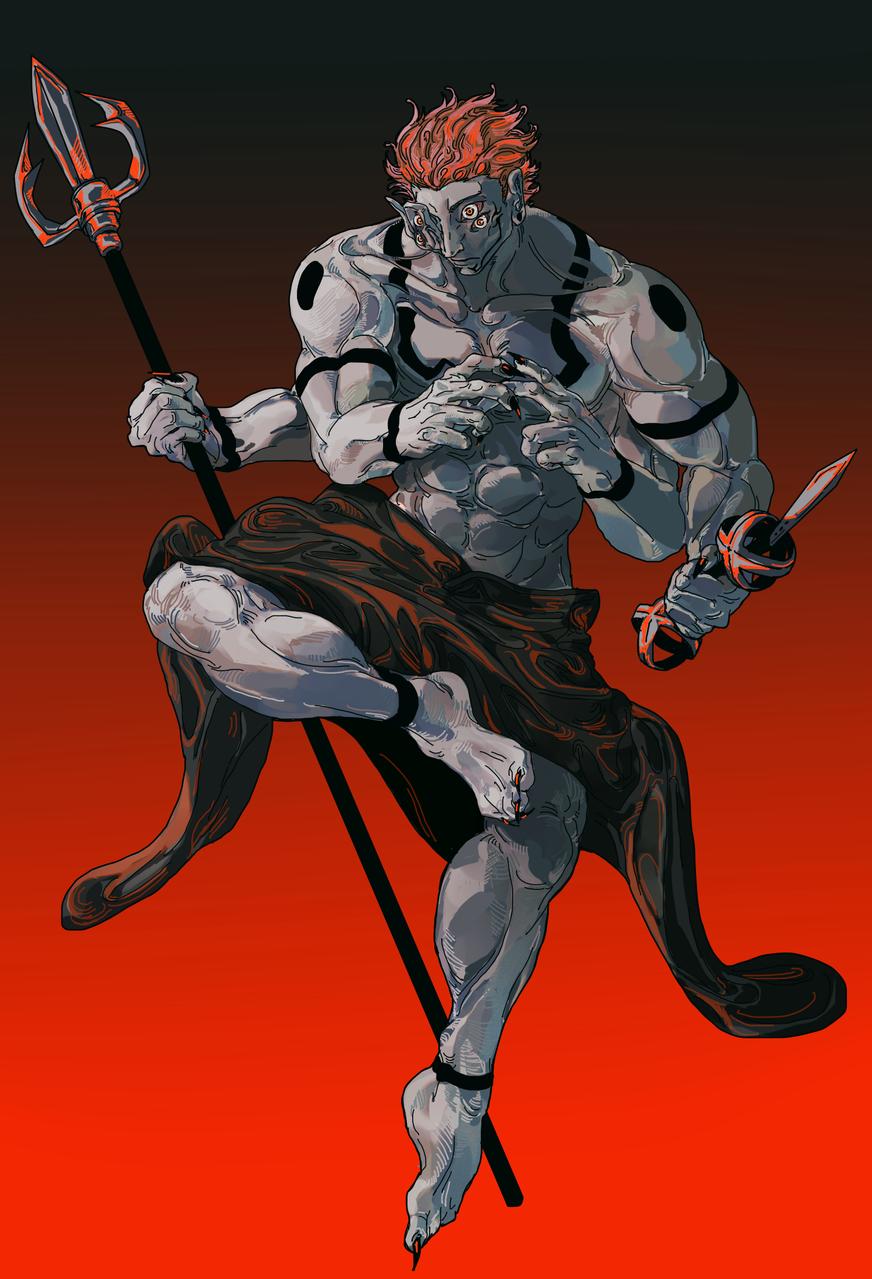 呪いの王 Illust of ヲキノドク JujutsuKaisenFanartContest JujutsuKaisen