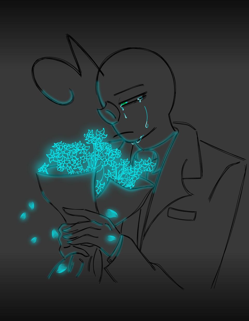 Illust of ฿₳ⱠĐł ฿₳ⱠĐł₥ØⱤɆ medibangpaint sad