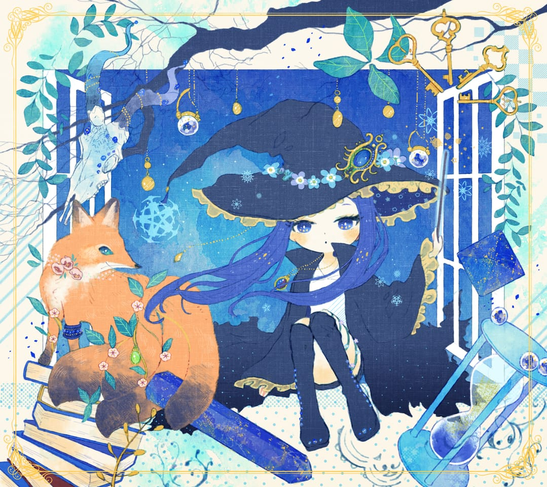 青 Illust of kita February2021_Fantasy blue