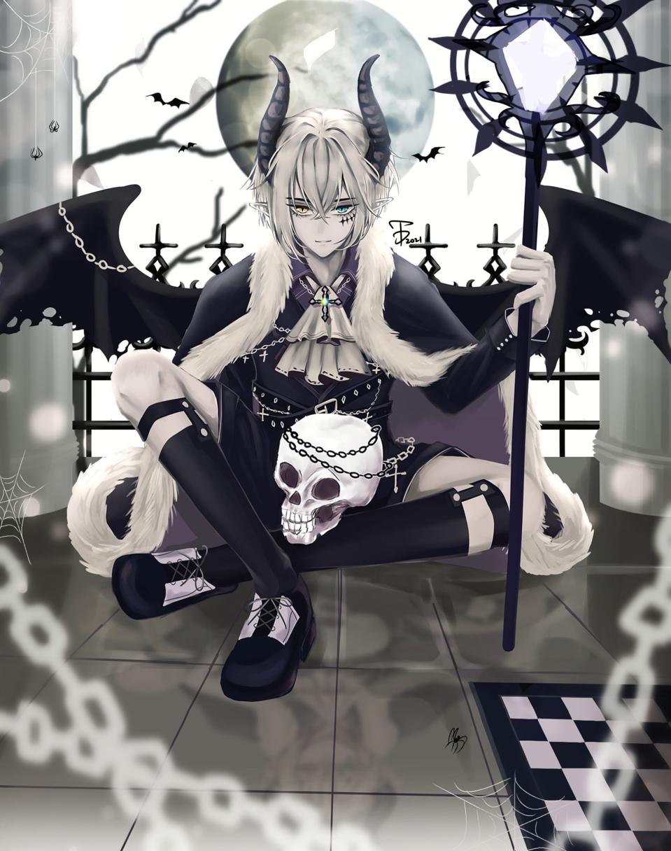 惡魔 Illust of 兔弟 medibangpaint 骸骨 demon