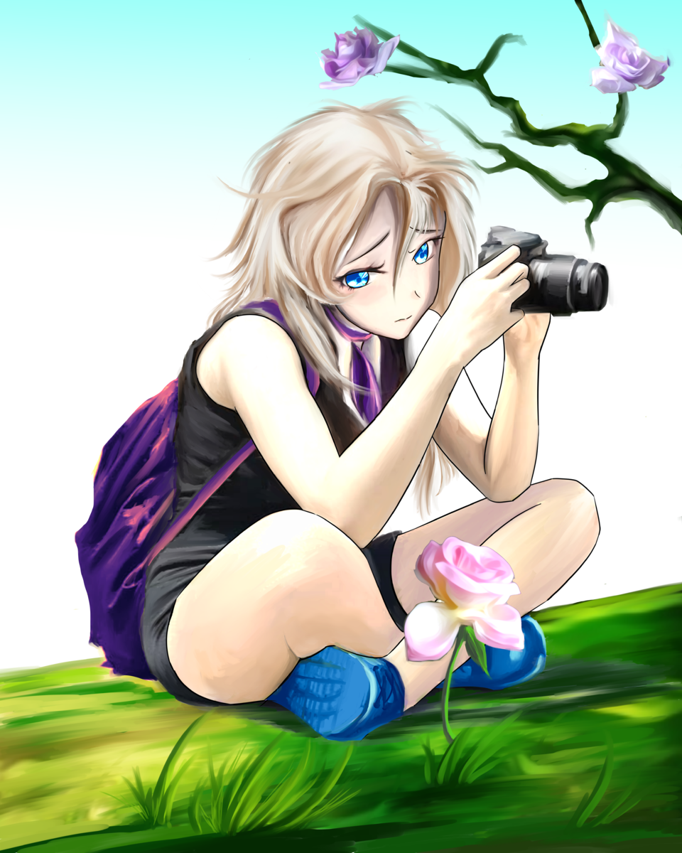 Frorezenth Illust of markioy June2021_Anthropomorphism MasterpieceFanart September2021_Girl Kyoto_Award2021[illustration] April2021_Flower original girl kawaii cute illustration oc