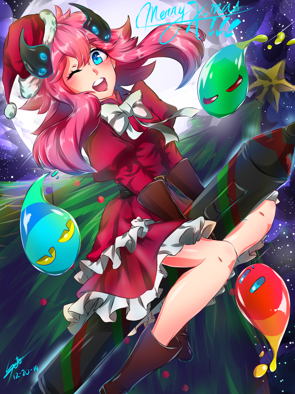 Christmas with Medi-chan! Illust of Ecchiban-Sensei dec.2019Contest Christmas メディーちゃん