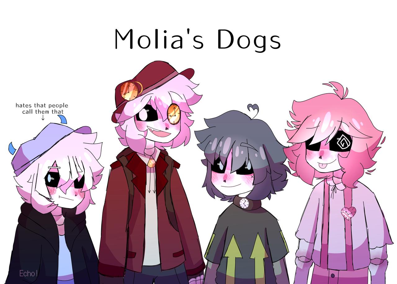 Molia's dogs  Illust of Plasters medibangpaint Echo! EM/EV oc
