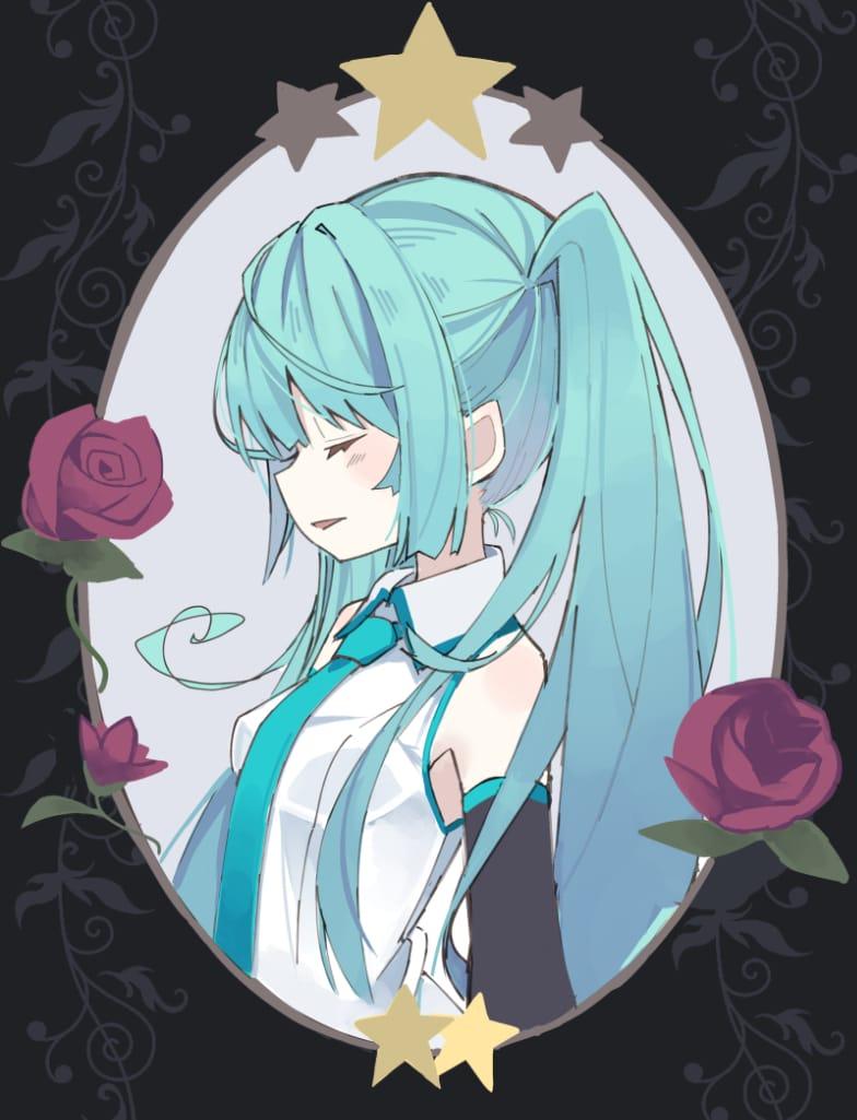 みくさん Illust of てるん VOCALOID girl illustration hatsunemiku