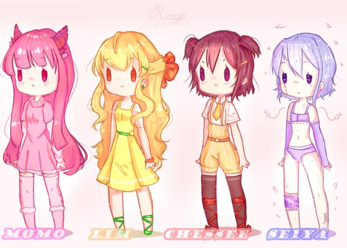 [OC] C H I B I ! Illust of Kizu-yo anime girl oc cute original doodle medibangpaint chibi