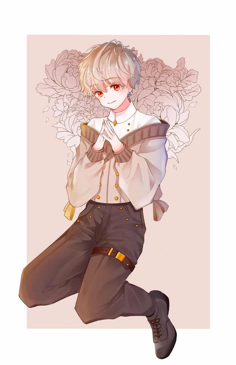 花と少年 Illust of あけや April.2020Contest:Color blonde 赤目 boy original flower