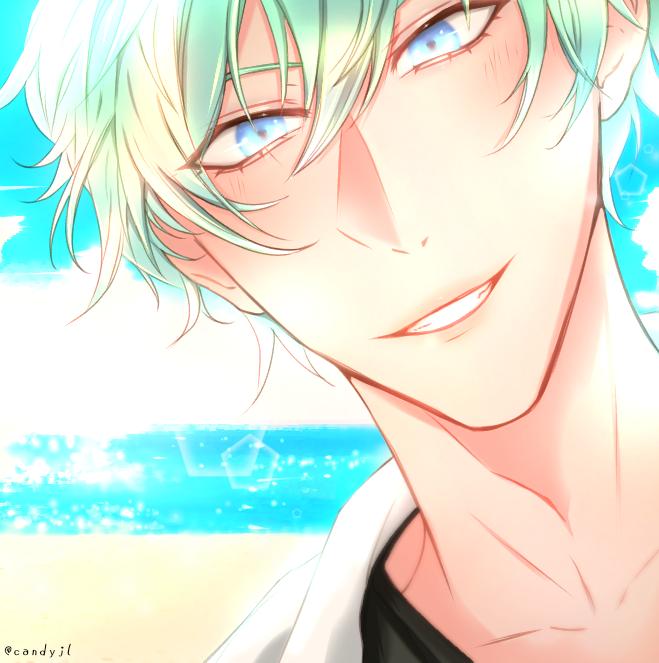 Sea 🌊 Illust of Candyjl fantasy iPad_raffle blue sea medibangpaint illustration summer animeboy oc anime