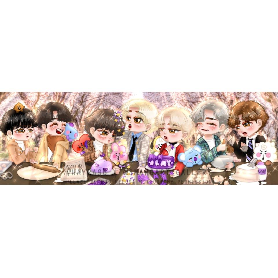 BTS VALENTINE! Illust of Hayra96 medibangpaint hayra96 fanart Valentine BTS digital art smangartgallery Artwork medibang