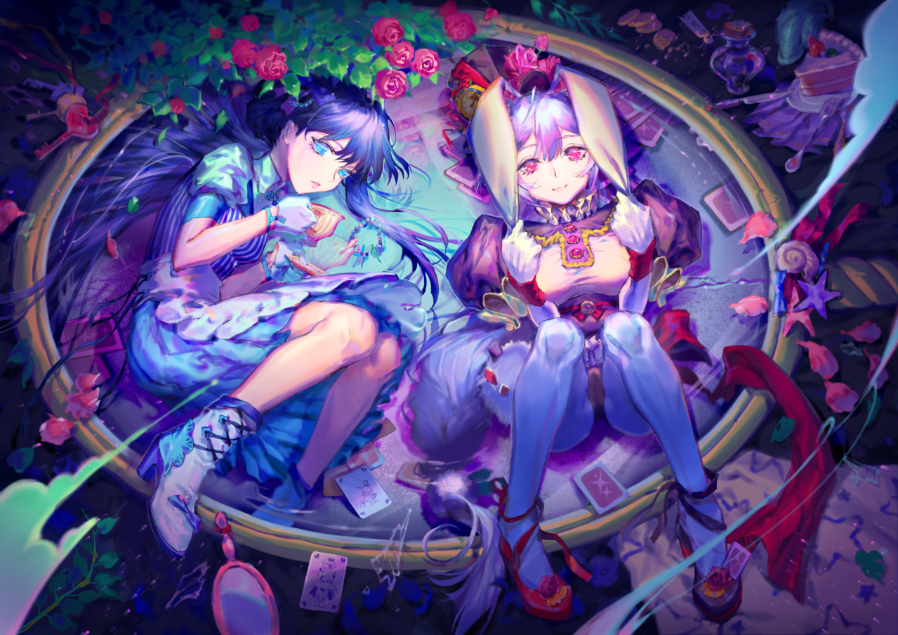 鏡の国 Illust of 森羅 girl 鏡の国のアリス