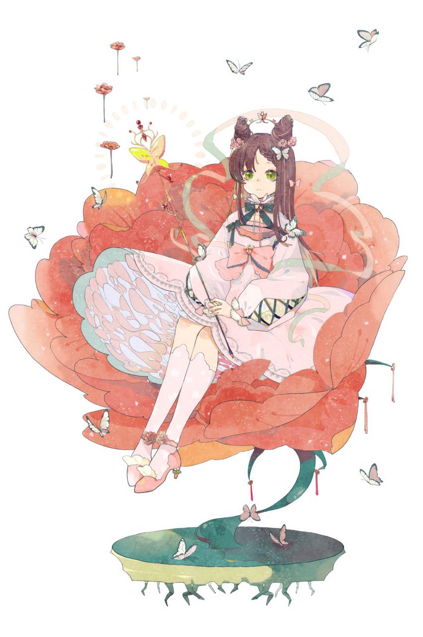 Alva Illust of 附子 Fuzi January2021_Contest:OC flower girl 蝴蝶 original