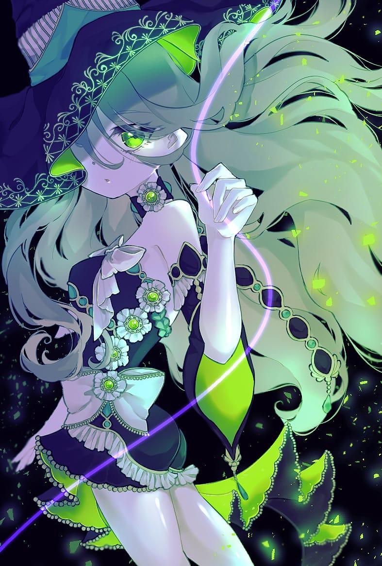 ♢♦︎♢ Illust of ribisu green girl 創作イラスト oc