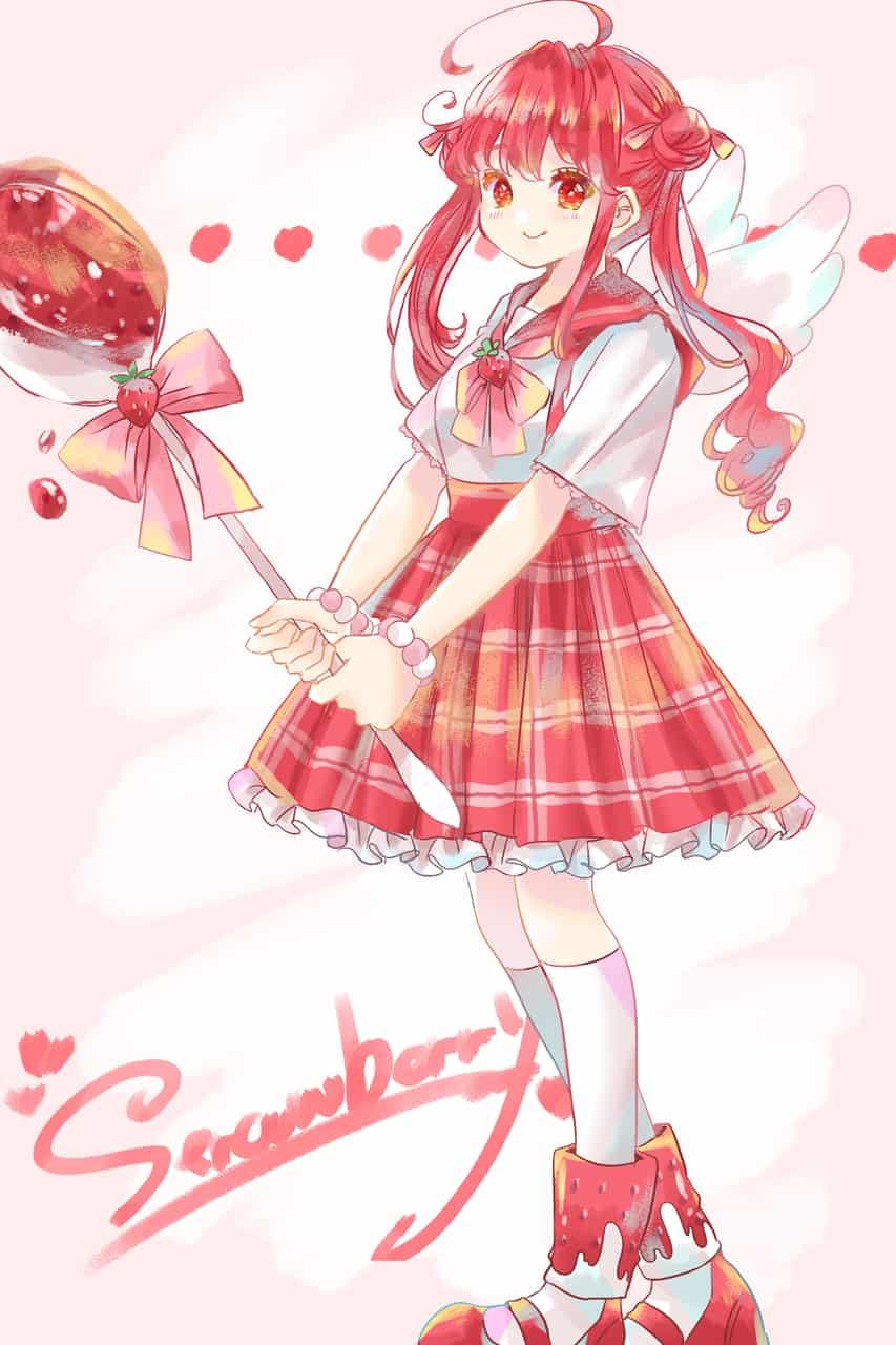 🍓 Illust of 知花そら digital girl strawberry original