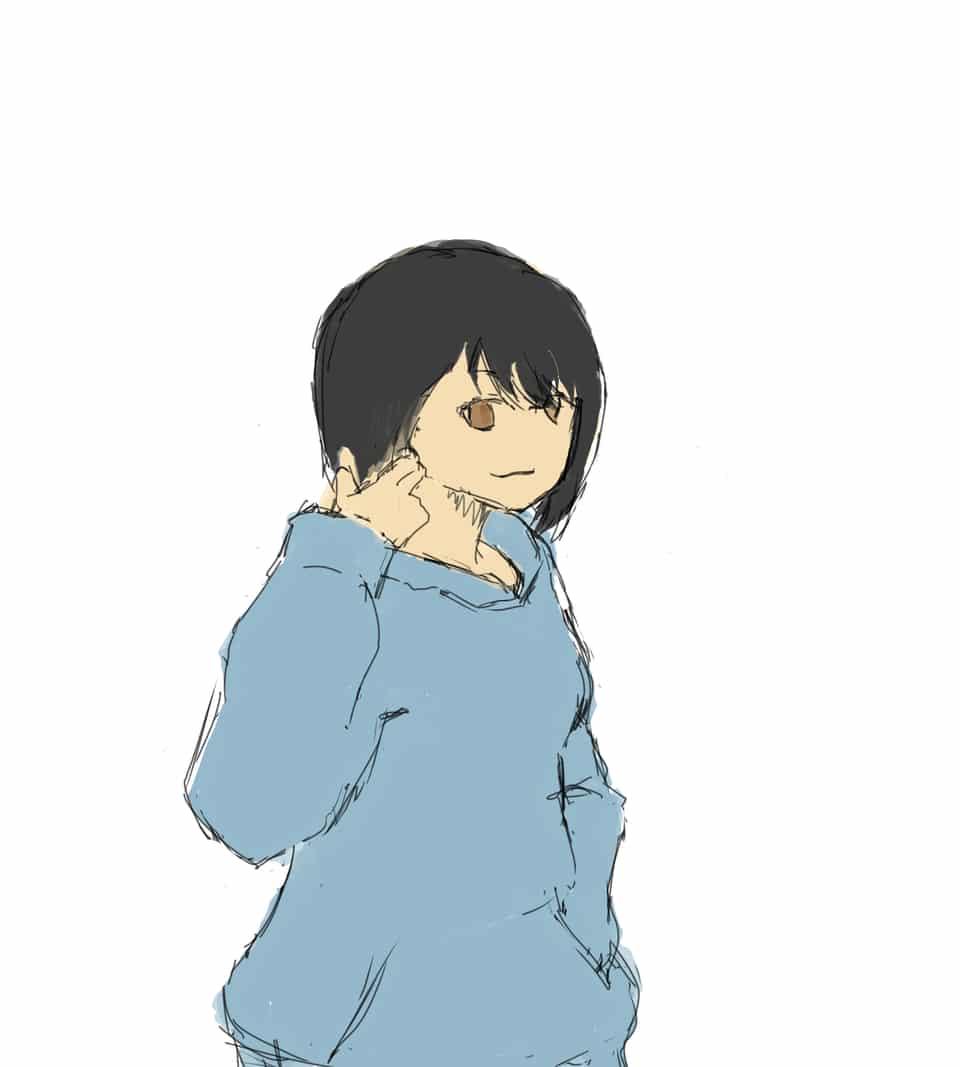 パーカー女子 Illust of 池の水 girl