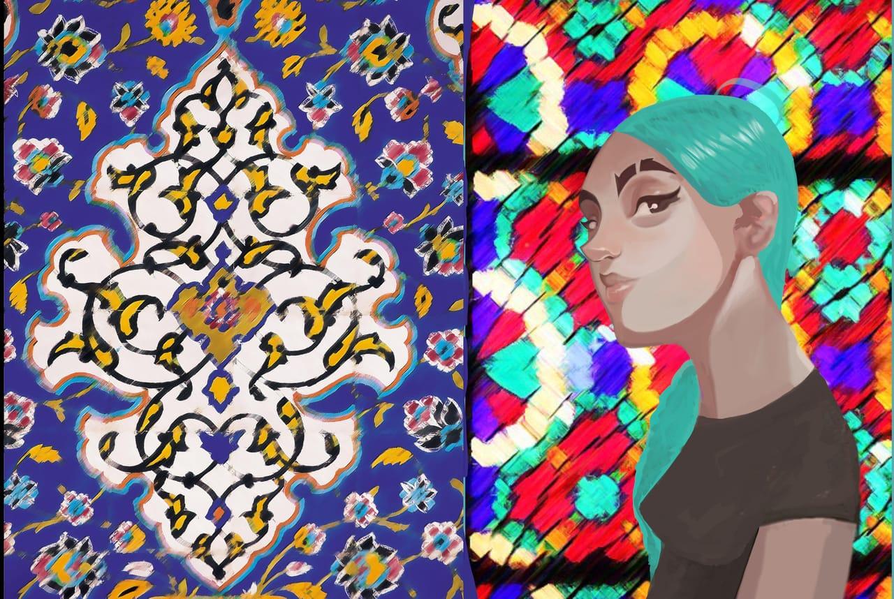 Illustration of Art Street book cover Illust of mmh studio April2021_Flower ART_street_Illustration_Book_Contest February2021_Fantasy