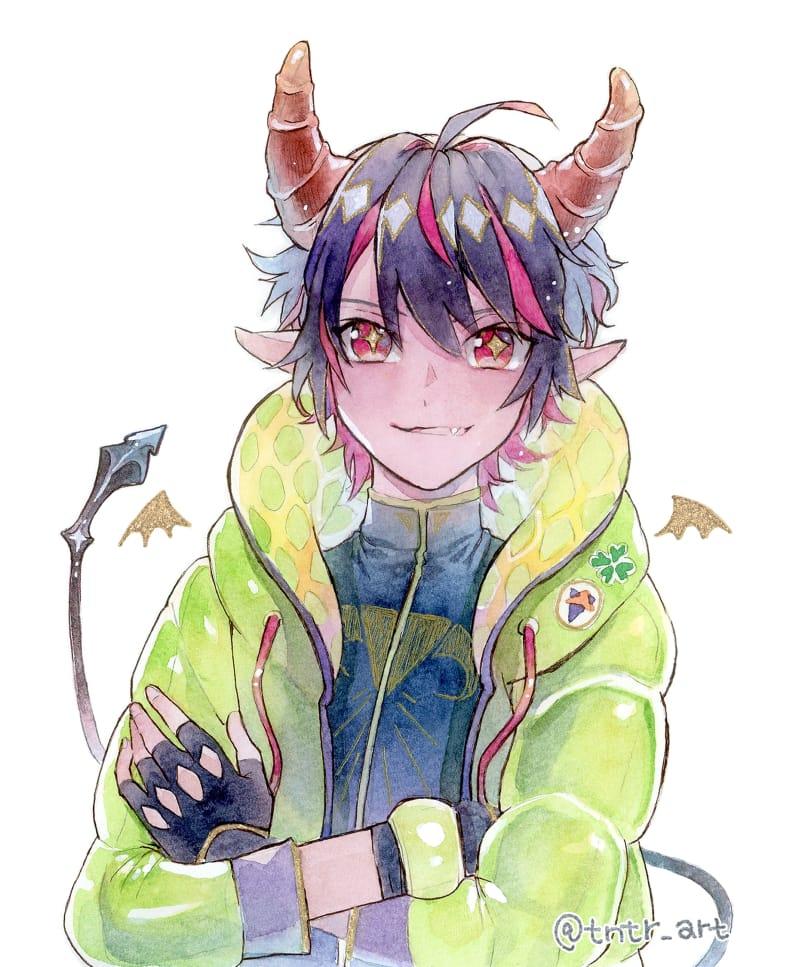 落書き2 Illust of とんとろ🐱tontoro boy watercolor original