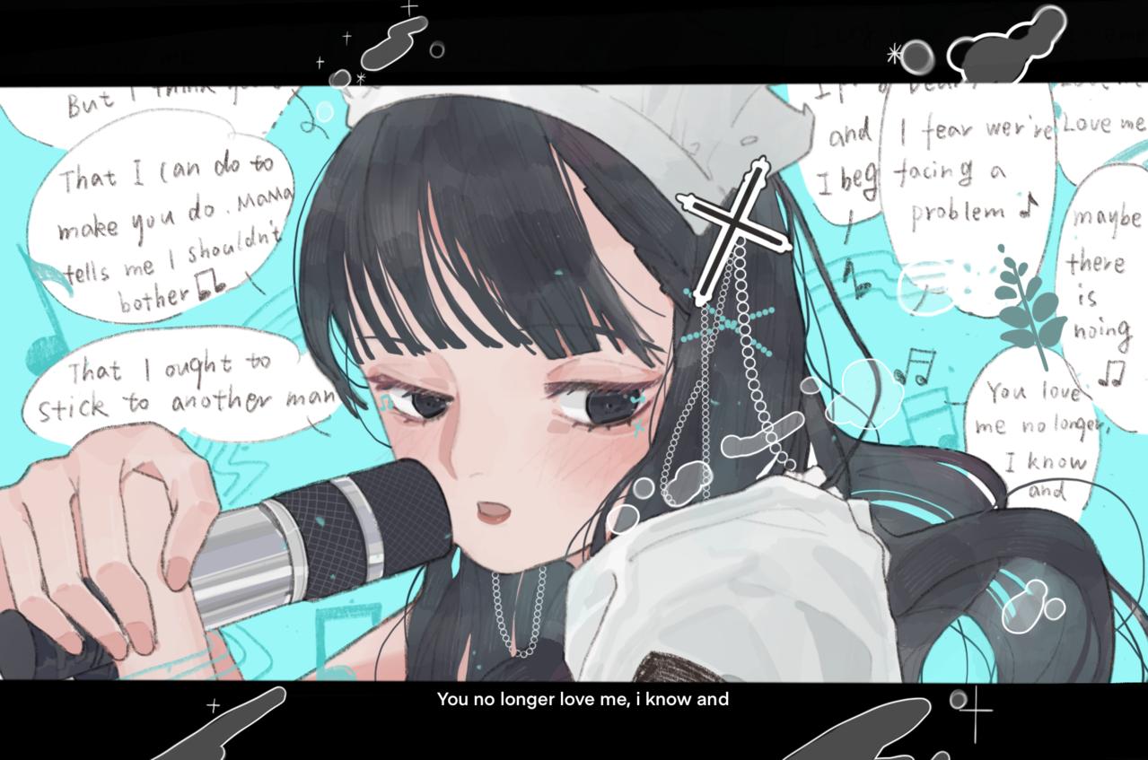 不眠东京 Illust of 九木口冬 插画,原创 女仆咖啡