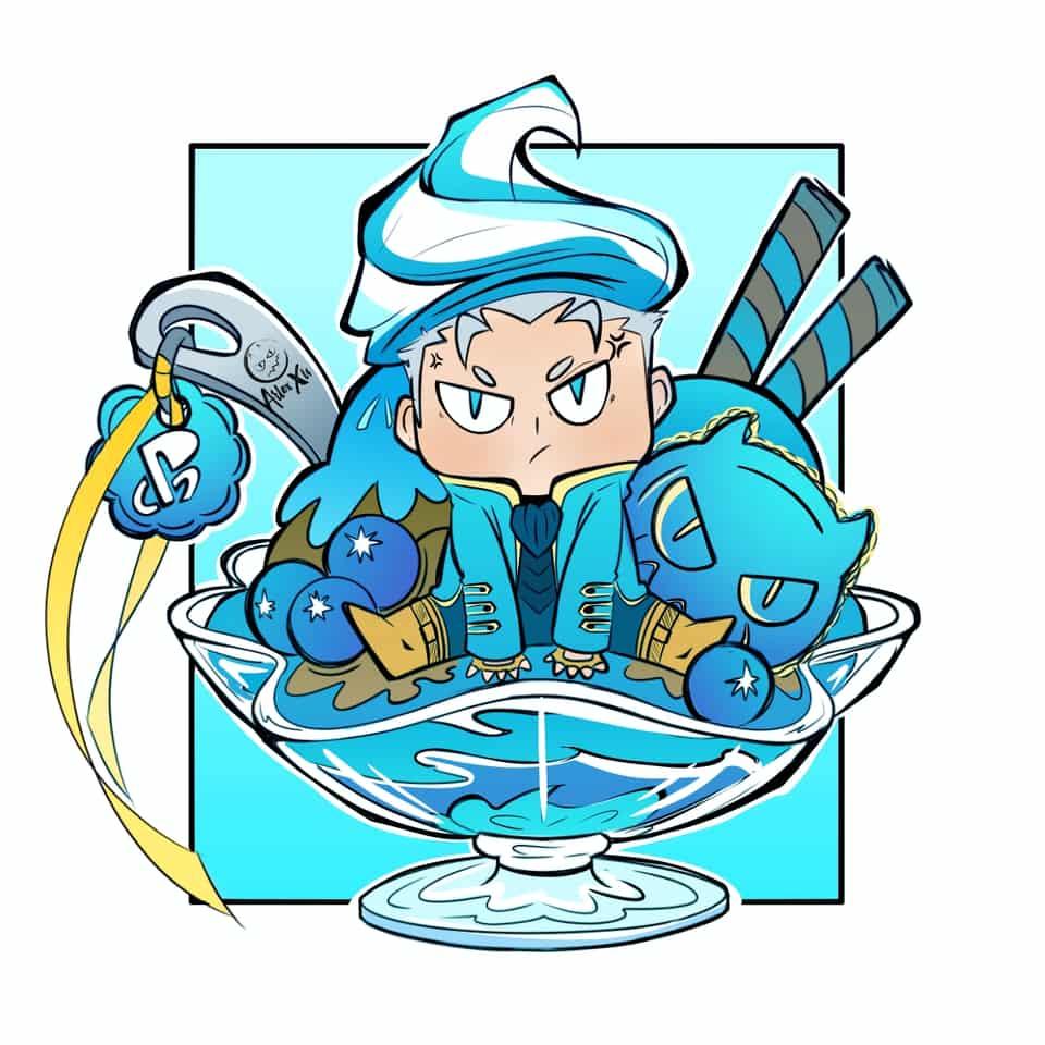 Chibis sweet Illust of ArlexXis sweet illustration videogame MediBangPaintPro chibi games