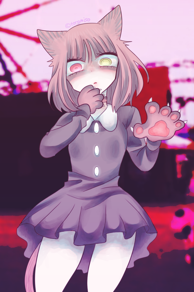 49 Illust of toromiso July2020_Contest:Anniversary girl Personification 猫耳娘 oc cat_ears cat 肉球 オリジナル漫画キャラクター original