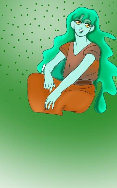 Collab with Mamibangchbi + my character Illust of ChibiL.Rini collab maid mamibangchbis 2020 gril drawing ChibiL.Rini Artstreet Uranus