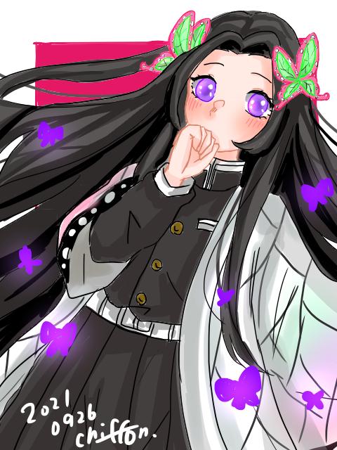 胡蝶カナエ🦋。* Illust of シフォン ARTstreet_Ranking_Contest KimetsunoYaiba 結婚しよ? 黒髪 花の呼吸 発光 蝶々 しふぉんの呼吸 シフォン🐬 KochoKanae