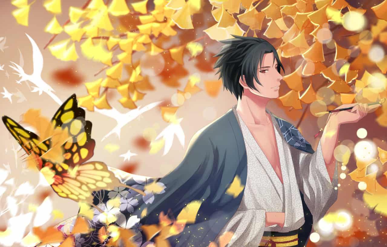 サスケ Illust of lonlky 1stjumpillust 銀杏 kimono NARUTO