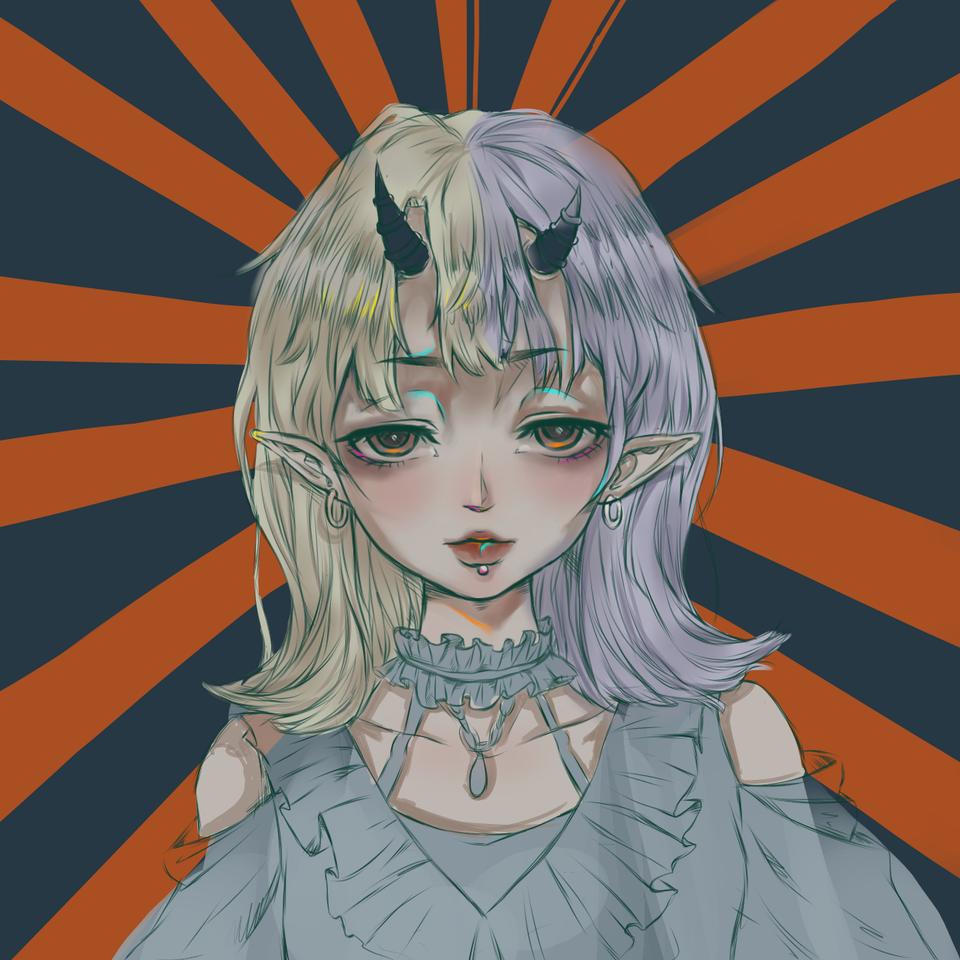 Illust of 浮梦 medibangpaint piercing horn
