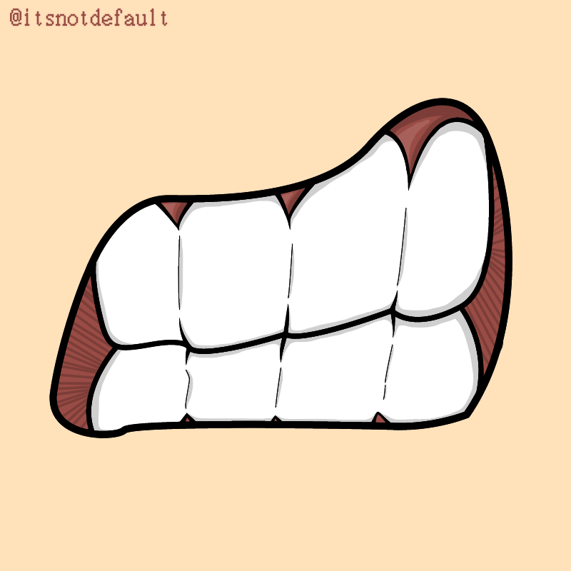 Cool Angry Mouth Illust of Khalil Mensouri no girl bruh shit angry boy mouth teeth