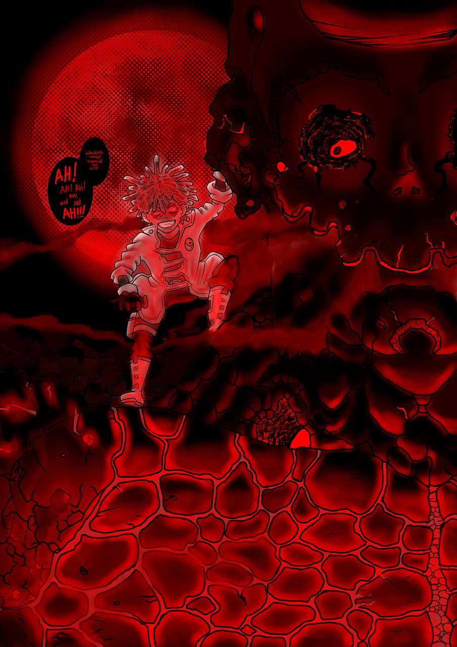 Red Night Illust of JDL August2020_Contest:Horror medibangpaint