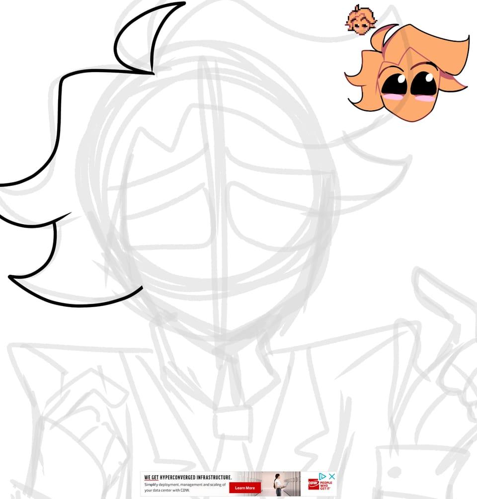"Pretty Minus boi go ""WAAAA"" Illust of Dr.ʙʀᴏᴛᴀᴛᴏ™| ʀᴇn. digital fanart fnf Senpai doodle Minussenpai fridaynightfunkin"