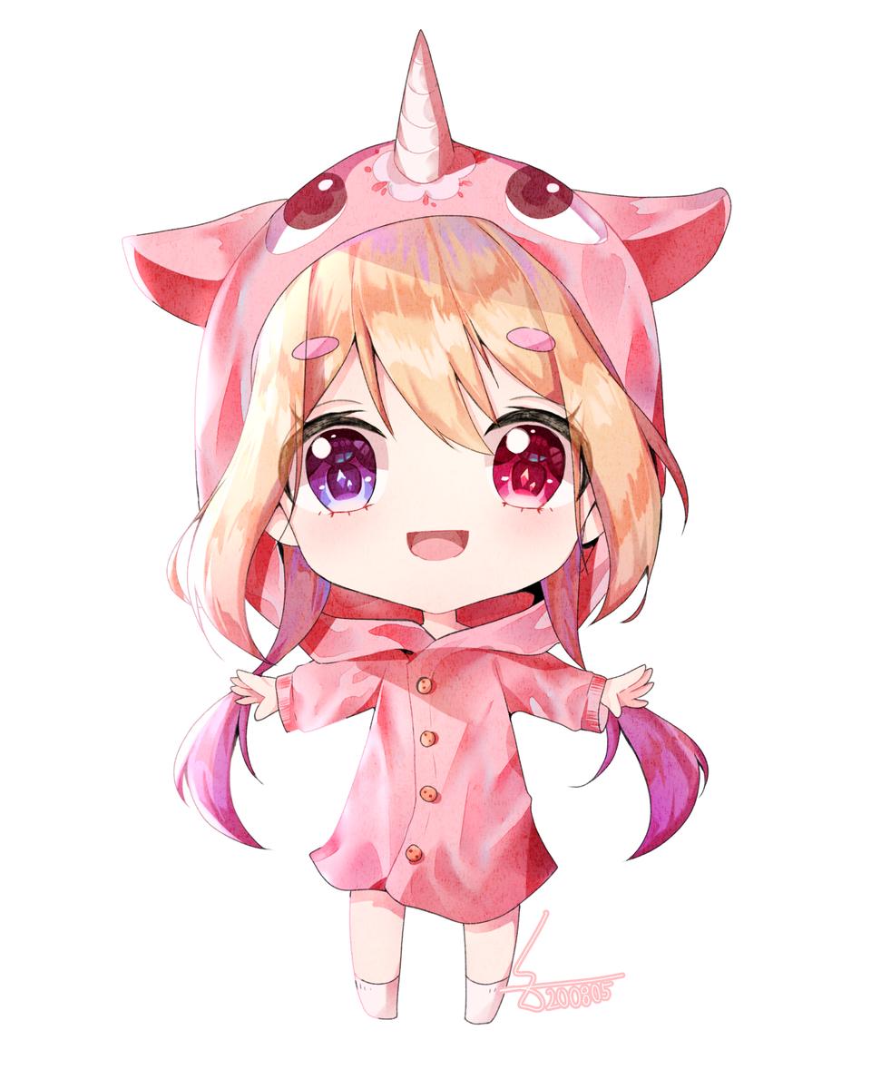 SD Illust of ヒラビ medibangpaint girl chibi