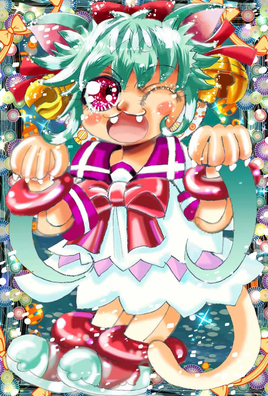 Cutest Cat Girl☆ Illust of おち☆よしかず(Occhiiy:オッチー☆) Post_Multiple_Images_Contest oc CLIPSTUDIOPAINT 女の子かわいい original 国際イラストレーションコンテスト2020 オリジナルキャラクター女の子