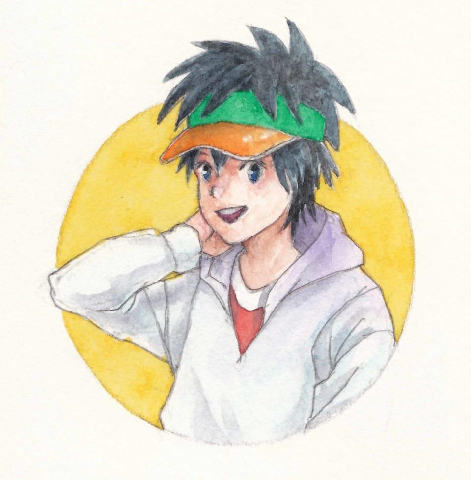 サンバイザー Illust of フジカワ ぼうし アナログ watercolor