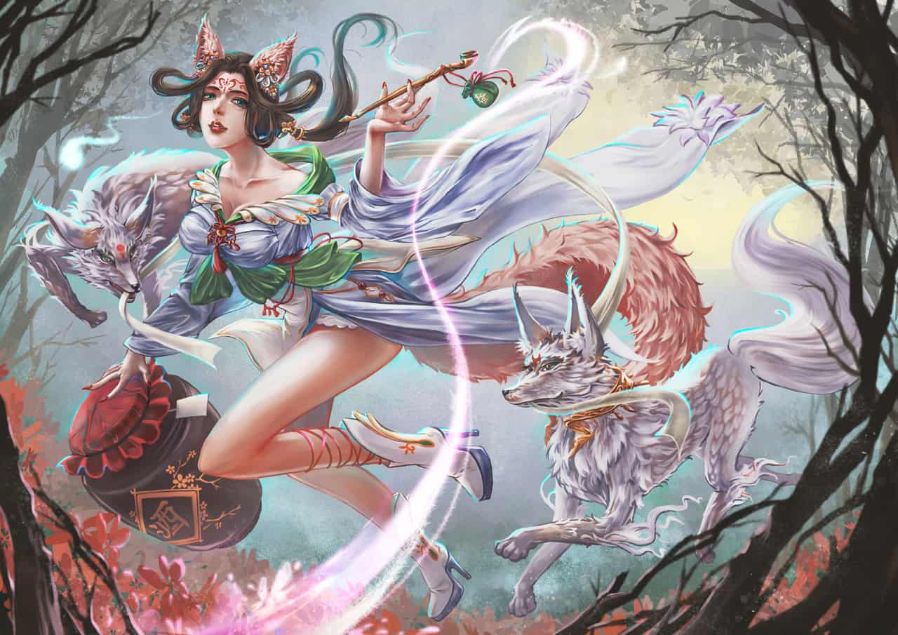 春與狐狸 Illust of 藺敔LinYu April.2020Contest:Color medibangpaint girl fox original
