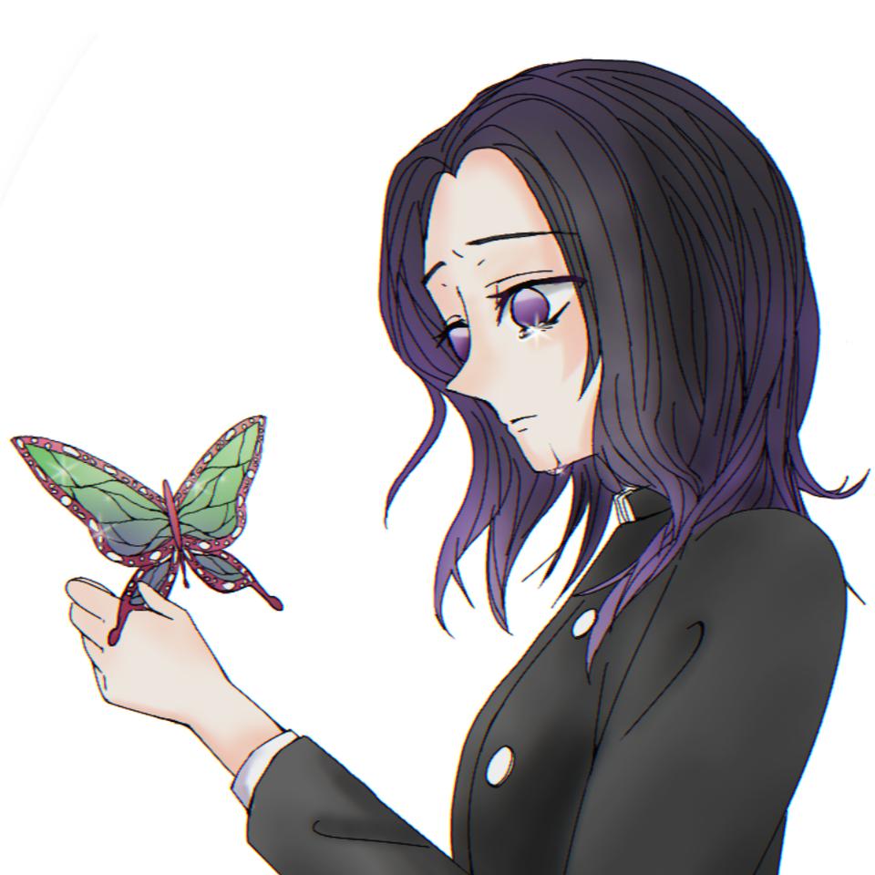もう一度貴方に会いたい Illust of はろちゃ medibangpaint 鬼 鬼殺隊 fanfic insect 蝶々 柱 girl KochouShinobu KimetsunoYaiba purple
