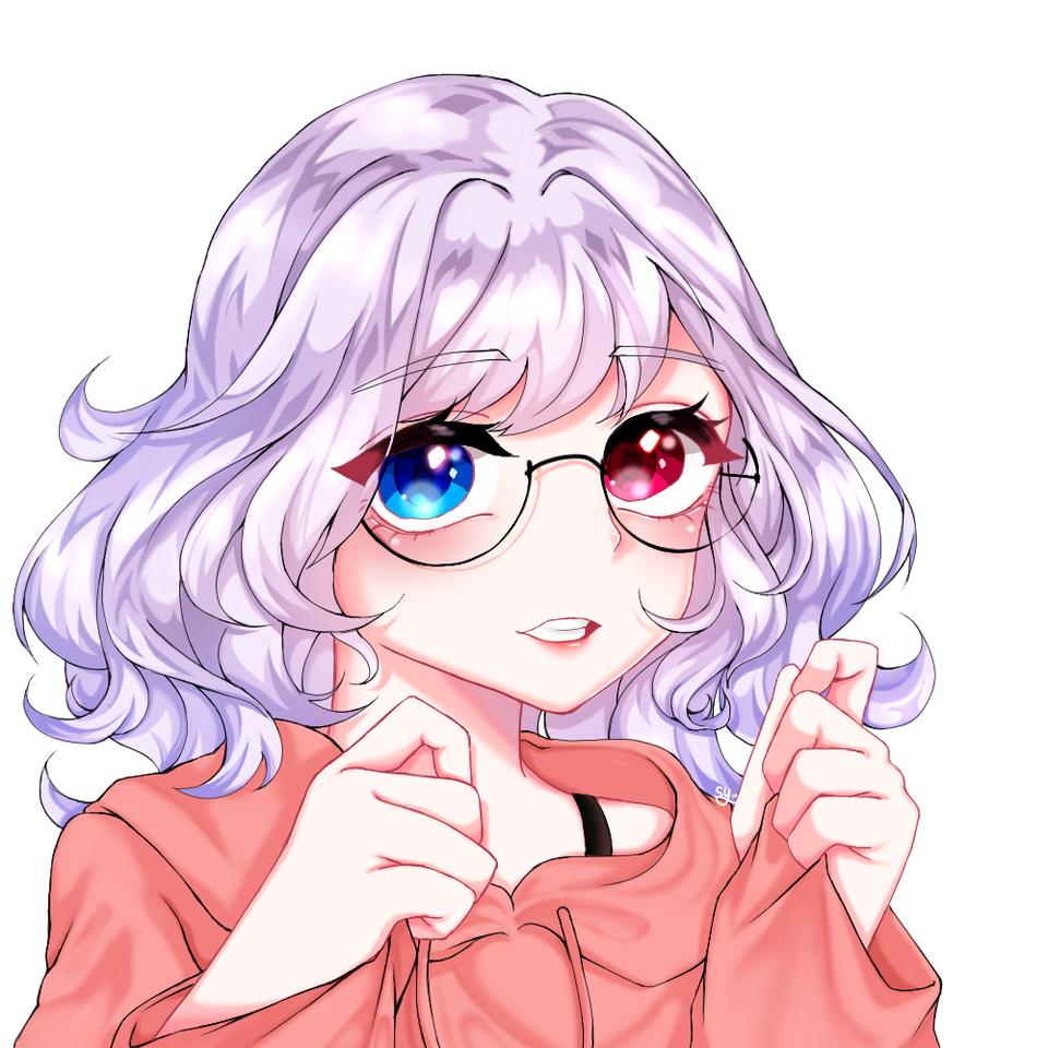 안경쓴 소녀(a girl in glasses) Illust of Parksy010403 medibangpaint glasses girl オッドアイ