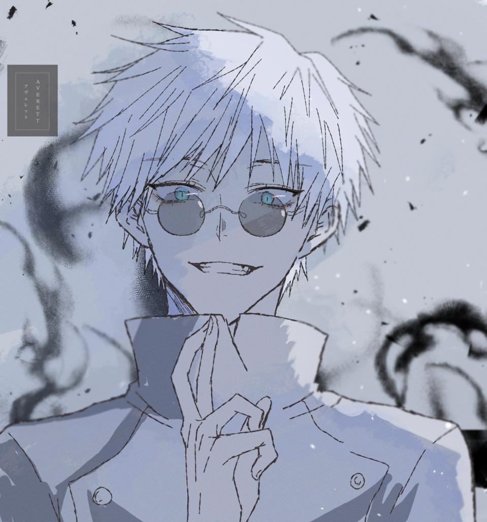 Satoru Gojo Infinite Void Illust of Averett JujutsuKaisenFanartContest digitalpainting fanart JujutsuKaisen digital