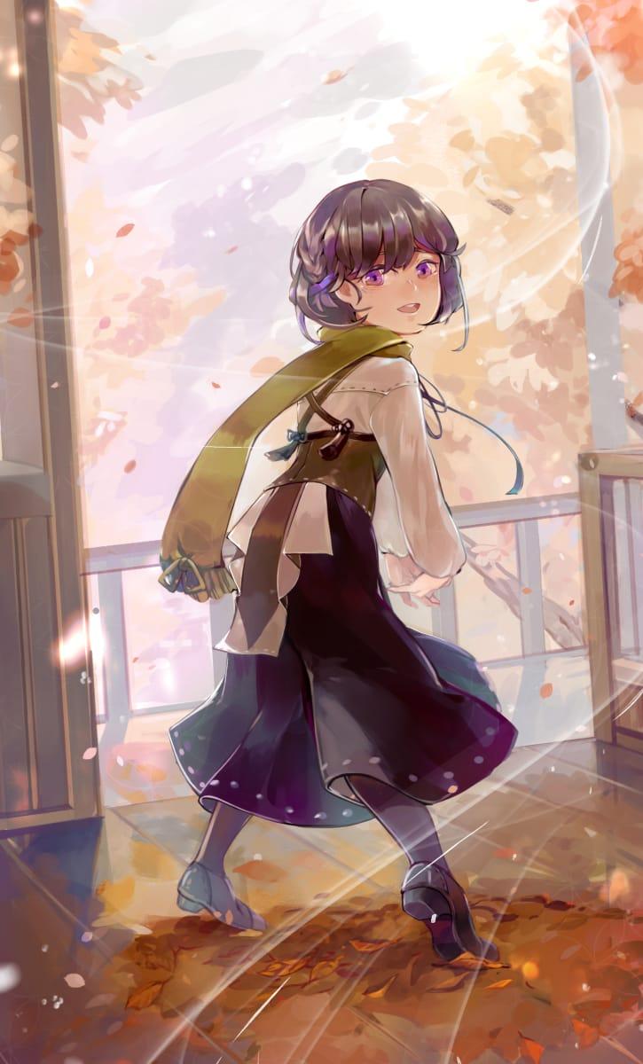 秋季 Illust of 蛋吉 autumn girl original
