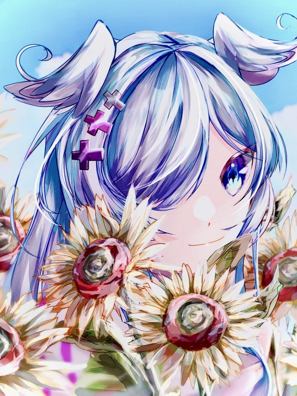 Sunflower  Illust of haruka エリーラ・ペンドラ virtual_YouTuber にじさんじ