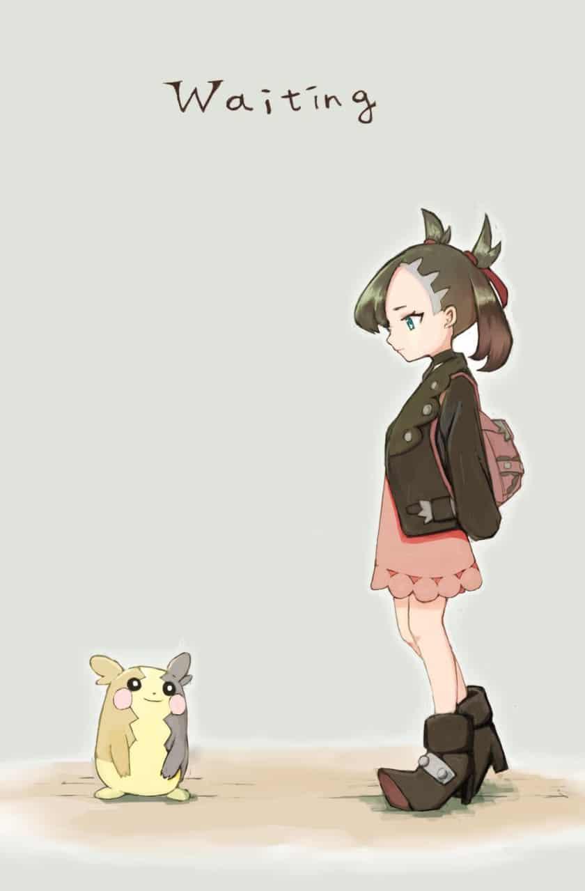 主人公待ちのマリィちゃん Illust of 欠 マリィ(ポケモン) pokemon モルペコ マリィ