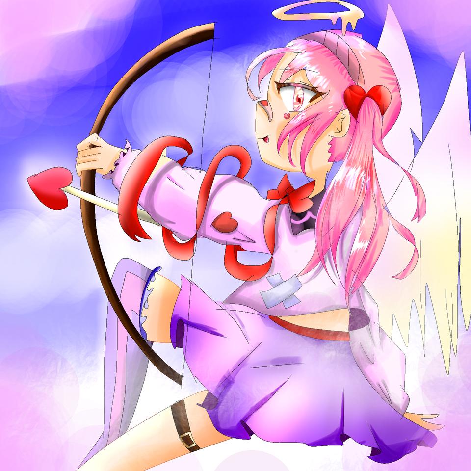 キューピットの矢♡ Illust of 彩芽 小6 下手くそ girl 矢に貫かれた人第1号byめだまやき oc タグありがとう