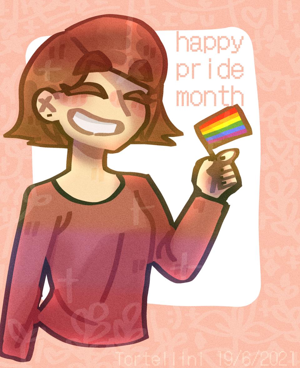 Happy pride month y'all (ノ◕ヮ◕)ノ*.✧ Illust of Tortellini By_Tortellini Special Tortellini