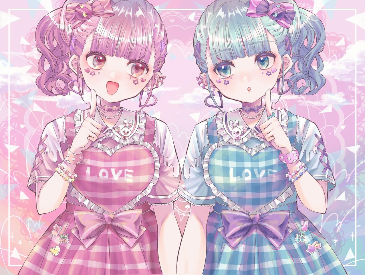 ツインズ Illust of 知花そら ARTstreet_Ranking_Contest oc girl 創作少女 original 創作イラスト