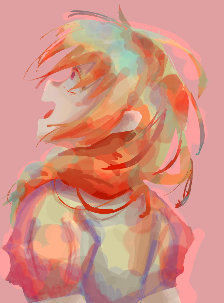 しんやてんしょん Illust of トラバント girl impasto