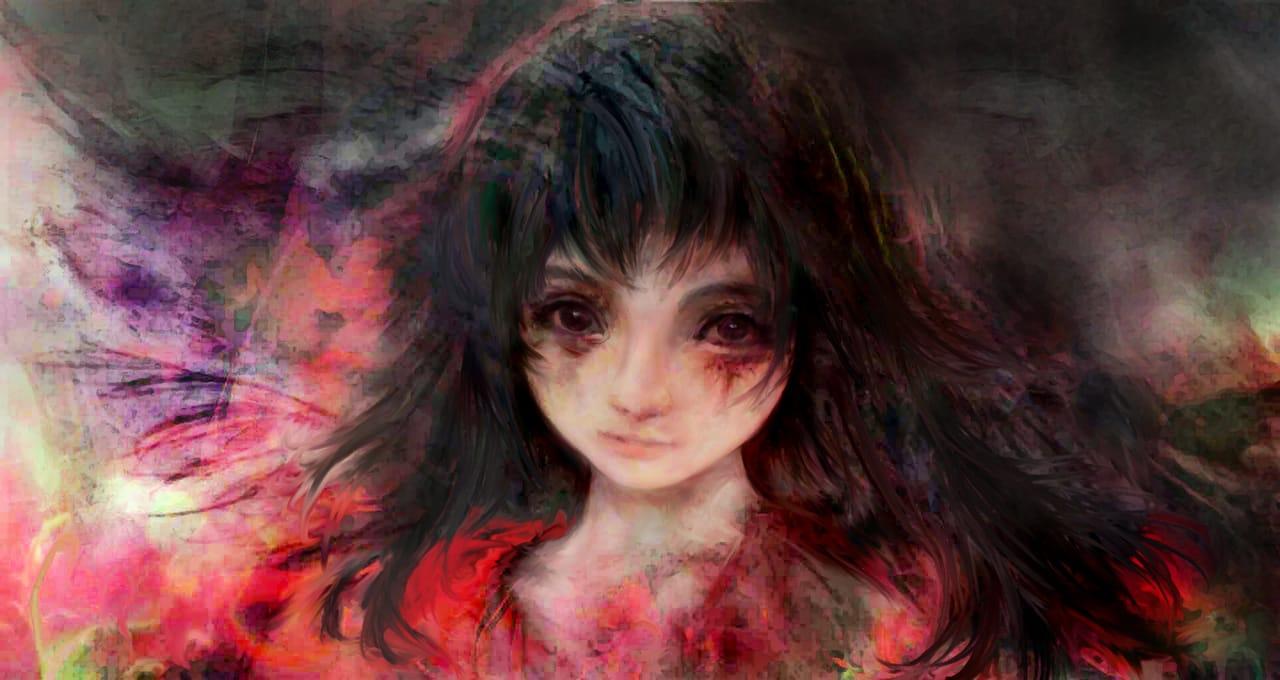紅衣小女孩-我就是怪物-小說封面版 Illust of 晴夜星子 MasterpieceFanart MySecretSocietyContest 第一屆繪王盃角色創作大賽 April2021_Flower March2021_Creature 小說 鬼 小說人物 monster 紅衣小女孩